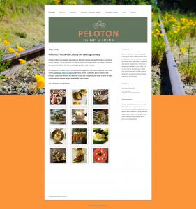 Peloton catering website