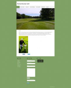 Richard Davison Golf website
