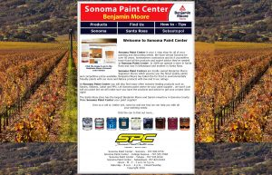 Sonoma Paint Center website