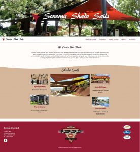 Image of Sonoma Shade Sails website